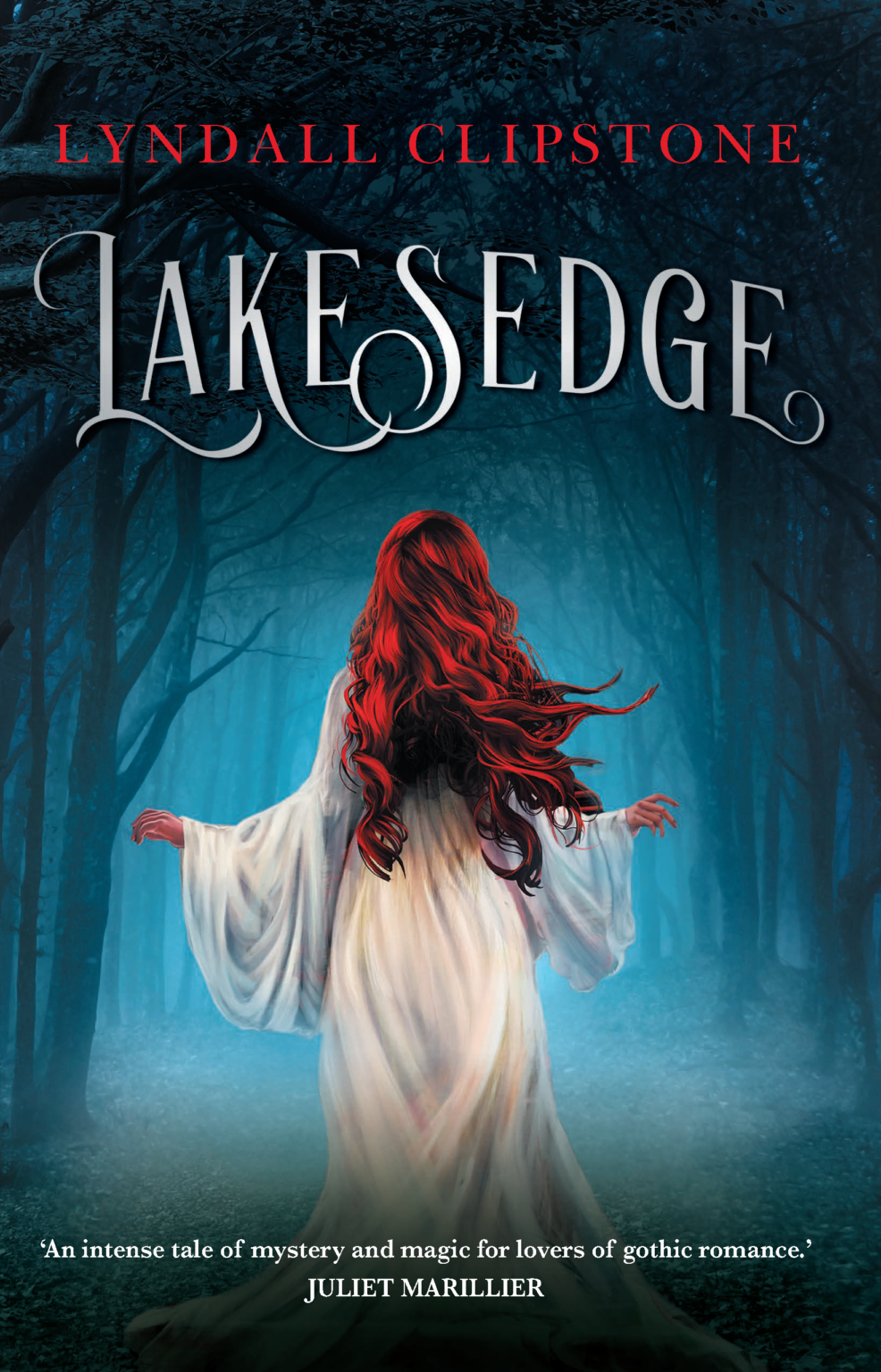 The cover of the book 'Lakesedge' by Lyndall Clipstone